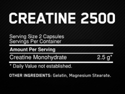 Optimum Nutrition Creatine 2500mg (100 капс.)