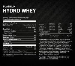 Optimum Nutrition Platinum Hydrowhey (1590 гр.)