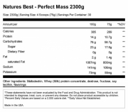 Nature's Best Perfect Mass (1000 гр.)