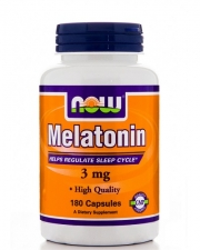 NOW Melatonin 3 mg (180 капс.)